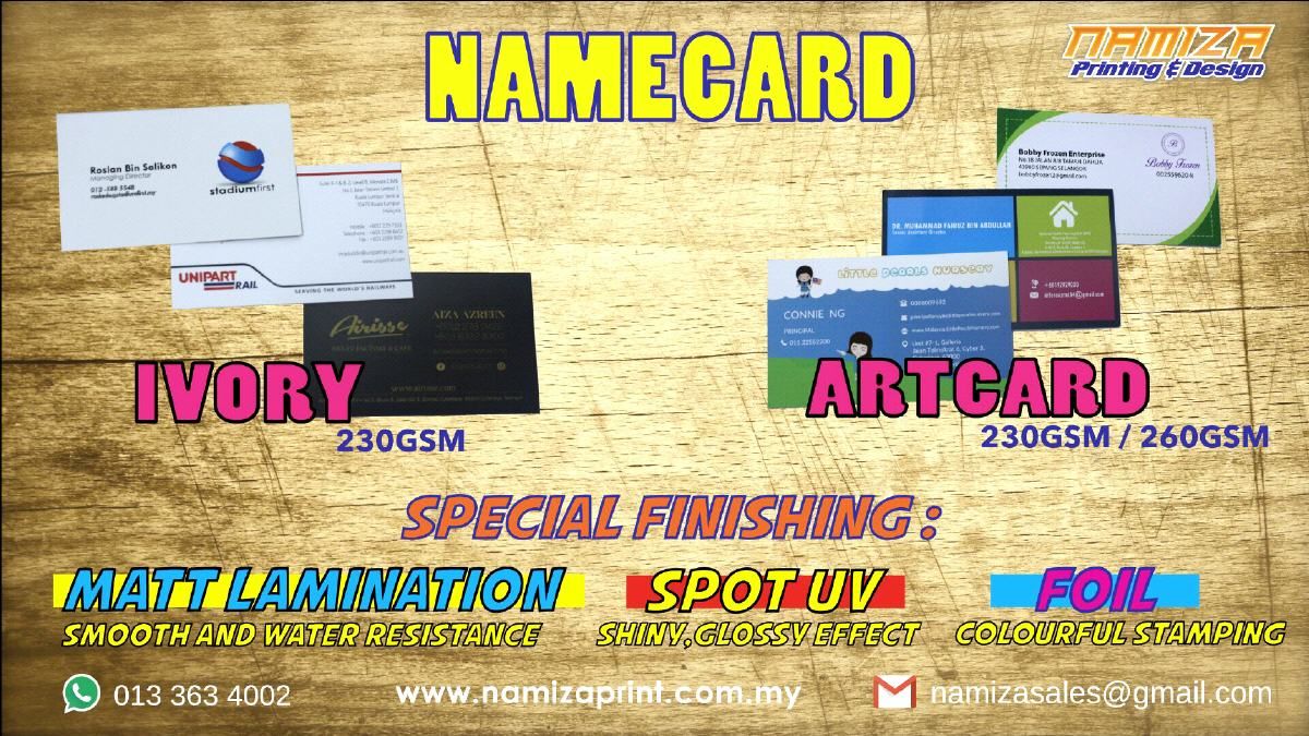 Namiza print shop cyberjaya we are here home products services business and name card reheart Image collections