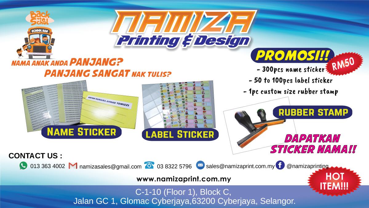 Namiza print shop cyberjaya