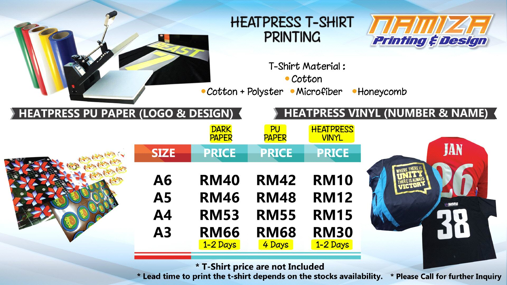 heat press tshirt business plan